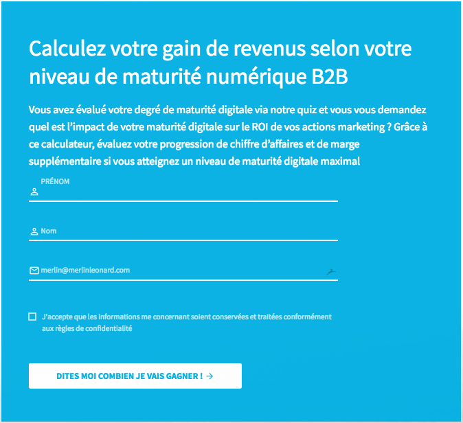 calculateur de ROI content marketing