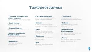 typologie de contenus
