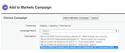 Déclencher une campagne de Nurturing Marketo depuis son CRM