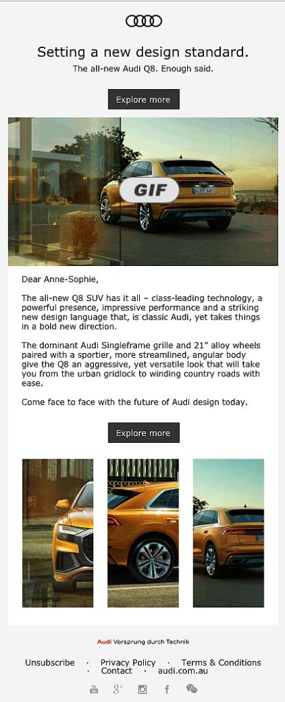 Exemple de Marketo email par Merlin/Leonard